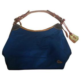 Bolsa Dooney & Bourke Azul Piel Fina Grande Original!!!