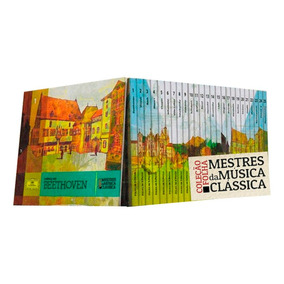 Coleção Folha Mestres Da Música Clássica 25 Cds Livros Novos