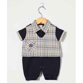 Jardineira Oshkosh Xadrez - Roupas de Bebê Azul marinho no Mercado ... 4183e043722