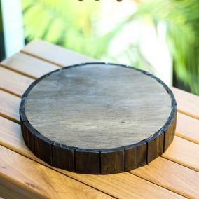 Tábua De Madeira Rústica Escura - 40cm + 25cm