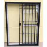 Balcon Aluminio + Reja Hierro Corrediza C/cerradura 180x200