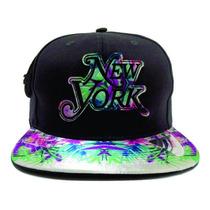 Boné Aba Reta Chapéu Gorro Bombeta Reta New York Snapback