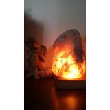 Lamparas De Sal (roca Natural, Base De Madera) + Cd