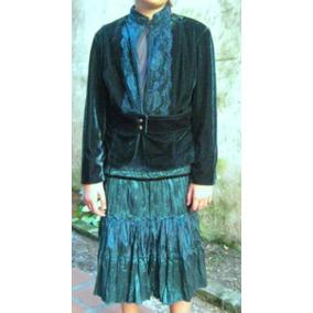 Trajecito-conjunto-vestido Nena Para Fiesta Verde Esmeralda.