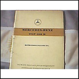Antiguo Libro-manual De Usuario: Mercedes Benz 180 D 1954/56