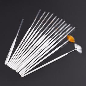 15 Pincéis Kit De Pincel Unha Decorada Tipo Macrilan - Top