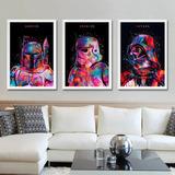 Nuevo! Cuadros Colección Tributo Star Wars Darth Vader 3pz