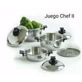 Remato Ollas Rena Ware Chef 2 Nuevas En Caja 7 Piezas