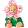 Disfraz De Flor Para Niña Talla 18-24 Meses - Verde/rosado