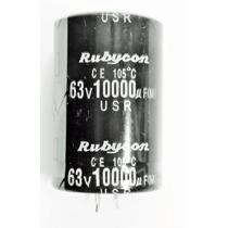 Capacitor Eletrolítico 10000uf X 63v - 105°c Radial Rubycon