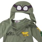 Macacão Infantil Aviador Piloto Militar Em Algodão Bordado