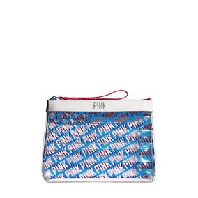 04fcbe37c Neceser Pink Azul Blanco Cosmetiquera Victoria's Secret Muje