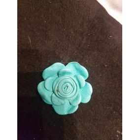 Prendedor De Cuero Flor Varios Colores Y Modelos