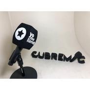 3 Capuchones Antipop Para Microfonos Personalizados Con Logo