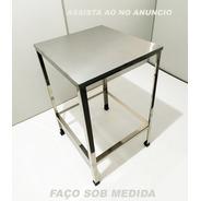 Mesa Aço Inox 60x57cm Total Em Inox