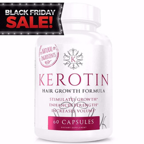 Kerotin Hair Growth Vitamins 60 Capsulas Dias Sugar Bear