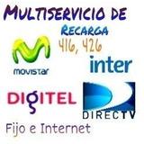 Recarga Saldo Movistar, Digitel, Inter, Directv Movistar Tv