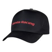 Boné Trucker Moto Honda - Laser/silk Emborrachado - Preto - Coleção Racing