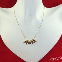 Cadena Con Inicial-corazon-inicial Chapa De Oro Envio Gratis