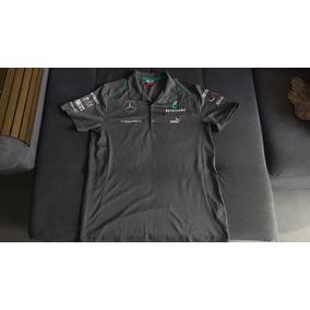 Raridade: Camisa Oficial Puma Da Equipe Mercedes Amg F1