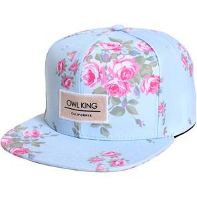 Boné Floral Aba Reta Owl King Snapback Barato