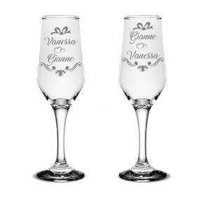 2 Taças Jateadas Personalizadas Casamento Padrinhos 15 Anos