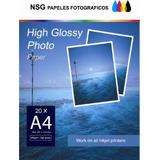 Papel Foto Glossy A 4 Adhesivo Sticker X 100 Hojas