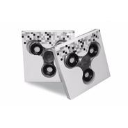 Fidget Hand Spinner Anti Ansiedade Metalizado Prata
