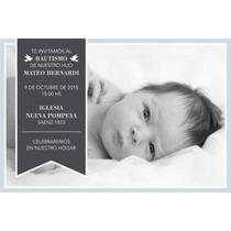 Invitaciones Tarjetas Bautismo Primer Año Baby Shower