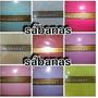 Juego De Sabanas Unicolores King Size 2x 2 Para Colchón Alto