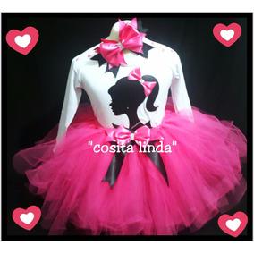 Tutu Disfraz Nena Barbie Incluye Vincha
