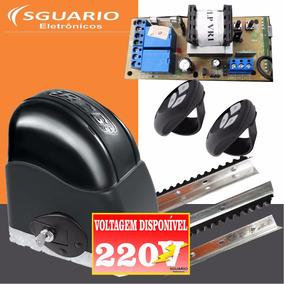 Kit Motor Portão Automático Eletrônico Deslizante 220v Rcg