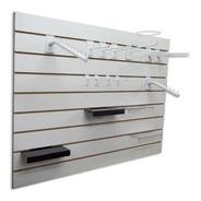 Panel Ranurado - Practiwall Blanco 18mm 1,83 X 2,60 -1ra Cal