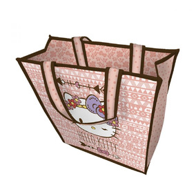 Sacola Retornável Ecobag Hello Kitty Rosa Sustentabilidade