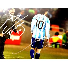 Autógrafo Original : Lionel Messi & Diego Armando Maradona