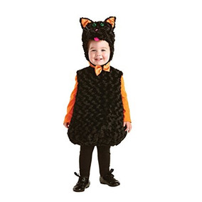 Disfraz Para Niños Underwraps Gato Negro-bebés Vientre Del