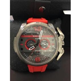 Reloj Diesel Ironside Rojo Strap Chronograph Dz4388 Hombre