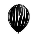 Globo Qualatex Zebra Negro De Látex 11 Pulgadas Qualatex