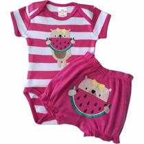 Body Mc + Short Best Club - Rosa Pink Menina Top