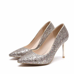 Sapato Feminino Salto Alto 109449 Moda Maior 43 44 Plus Size