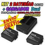 Kit 2 Pilas + Cargador De Baterias Dual Sjcam, H9, H9r, Eken