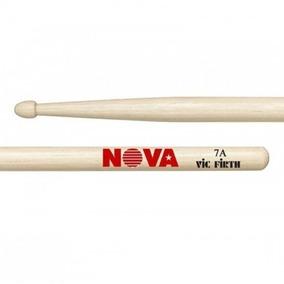 Baqueta Nova By Vic Firth 7a Hickory Ponta Madeira (par)