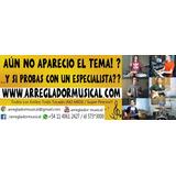 Arreglos Musicales - Pistas Originales Para Cantar No Midi