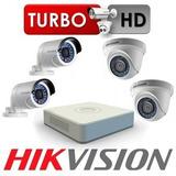 Kit De 04 Cámaras De Seguridad Hikvision