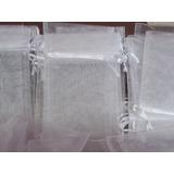 Souvenirs 20 Bolsitas ,bolsas De Organza Blanca 10 X 14
