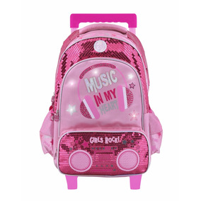 En Stock! Mochila Footy Original Music Luz Led 18 Carro