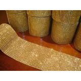 Manta De Strass Dourada Strass Crystal - 2 Manta 6x22cmm