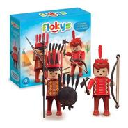 Flokys El Cacique Y El Indiecito Simil Playmobil C/acc @mca