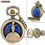 Reloj Bolsillo Bronce El Principito Albert Saint Exupery Gde