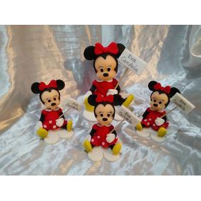 Souvenirs: Mickey / Minnie En Porcelana Fría + Central